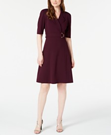 Calvin Klein Belted Blazer Dress