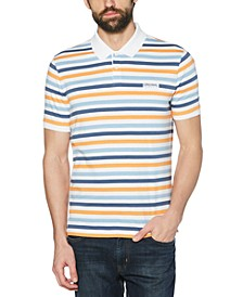 Men's Breton Stripe Polo Shirt