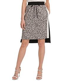 Colorblocked Pull-On Skirt