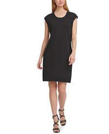 DKNY Embellished-Shoulder Dress