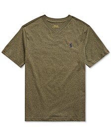 Big Boys Jersey Cotton V-Neck T-Shirt