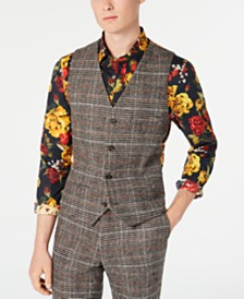 Paisley & Gray Men's Slim-Fit Plaid Eaton Vest