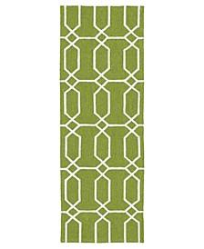 Escape ESC10-50 Green 2' x 6' Runner Rug