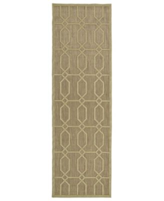 "A Breath of Fresh Air FSR02-105 Khaki 2'6"" x 7'10"" Runner Rug"