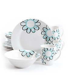Lush Blossom 12 Piece Dinnerware Set