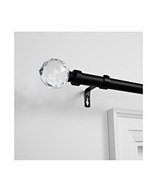 """Crystal Ball Outdoor Curtain Rod and Finial Set, 84""""-160"""""""