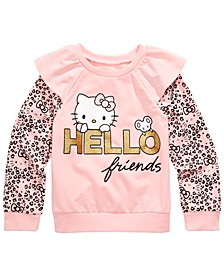 Little Girls Hello Friends Sweatshirt