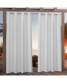 Nicole Miller Canvas Indoor/Outdoor Grommet Top Curtain Panel Pair