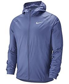Men's Essential Water-Repellent Hooded Running Jacket