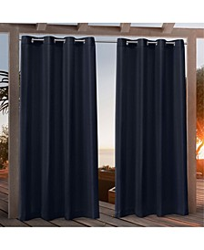 "Nicole Miller Canvas Indoor/Outdoor Grommet Top 54"" X 84"" Curtain Panel Pair"