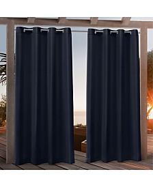 """Nicole Miller Canvas Indoor/Outdoor Grommet Top 54"""" X 84"""" Curtain Panel Pair"""
