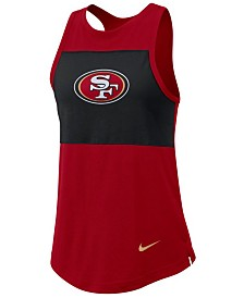 Nike Women's San Francisco 49ers Racerback Colorblock Tank