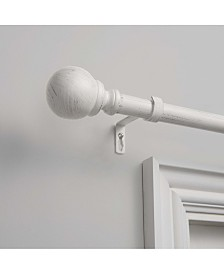 """Exclusive Home Sphere 1"""" Curtain Rod and Coordinating Finial Set, Adjustable 66""""-120"""""""