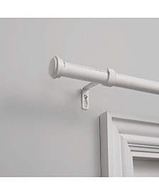 """Exclusive Home Topper 1"""" Curtain Rod and Coordinating Finial Set, Adjustable 66""""-120"""""""