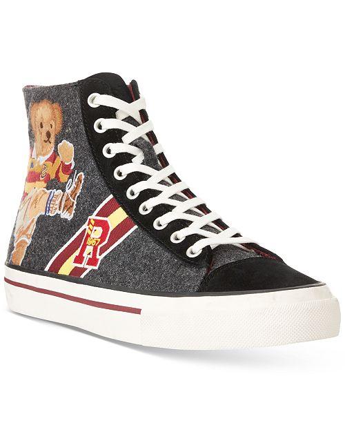 Polo Ralph Lauren Men's Solomon II Ruby Bear Sneakers