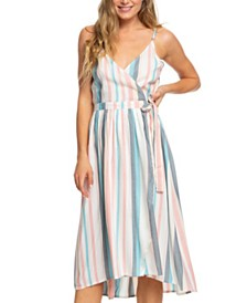 Roxy Juniors' Striped Surplice Dress