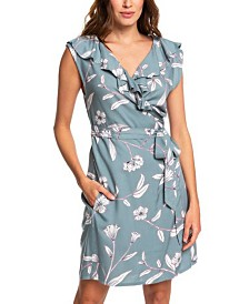 Roxy Juniors' Ruffled Wrap Dress