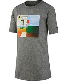 Big Boys Dri-FIT Hoop Photos Graphic T-Shirt