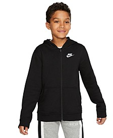 Big Boys Fleece Logo Zip-Up Hoodie