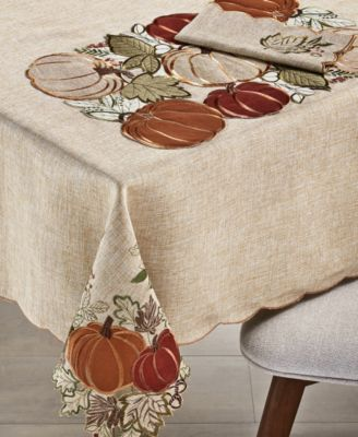 "Harvest Wreath 84"" Tablecloth"