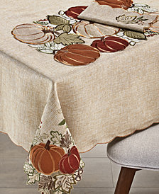 "Elrene Harvest Wreath 120"" Tablecloth"