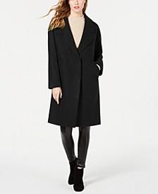 Single Breasted Drop Shoulder Wool Coat