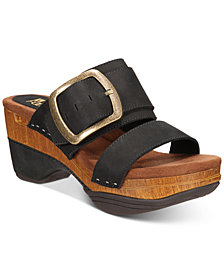 White Mountain Montage Wedge Sandals