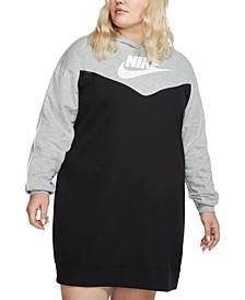 Plus Size Heritage Colorblocked Hoodie Dress