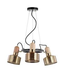 """Gallery 22"""" 3-Light Adjustable Spotlight Metal LED Pendant"""