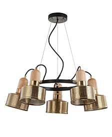 "Gallery 24"" 5-Light Adjustable Spotlight Metal LED Pendant"