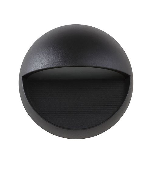 "JONATHAN Y Orbe 6.25"" Outdoor Metal/Glass Integrated LED Sconce"