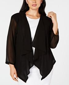 Calvin Klein Trendy Plus Size Chiffon Shrug