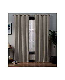 "Academy Total Blackout Grommet Top Curtain Panel Pair, 52"" x 84"""