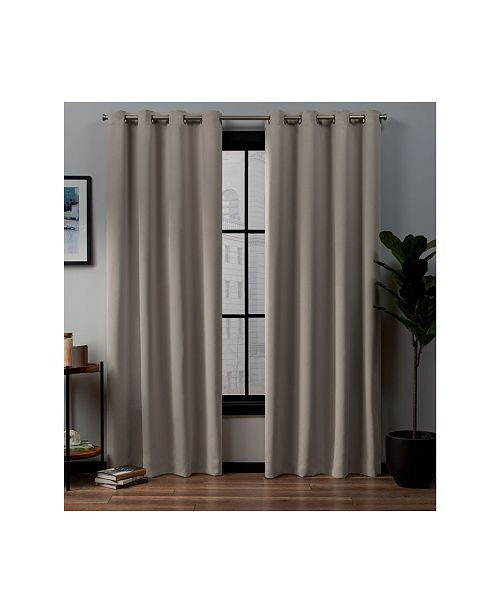 """Exclusive Home Academy Total Blackout Grommet Top Curtain Panel Pair, 52"""" x 84"""""""