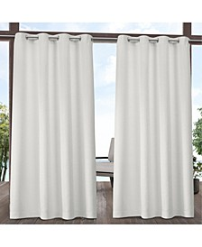 "Indoor/Outdoor Solid Cabana Grommet Top 54"" X 108"" Curtain Panel Pair"