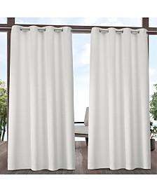 """Exclusive Home Indoor/Outdoor Solid Cabana Grommet Top 54"""" X 108"""" Curtain Panel Pair"""