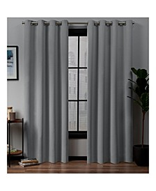 "Academy Total Blackout Grommet Top 52"" X 96"" Curtain Panel Pair"