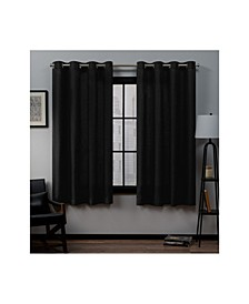 "Loha Linen Grommet Top Window 54"" X 63"" Curtain Panel Pair"