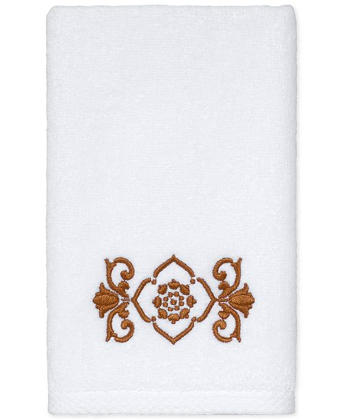 "Avanti  CLOSEOUT! Scroll Cotton 12"" x 18"" Fingertip Towel"