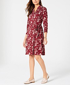 Paisley Polo Shirtdress, Created for Macy's