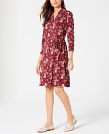 Charter Club Paisley Polo Shirtdress, Created for Macy's