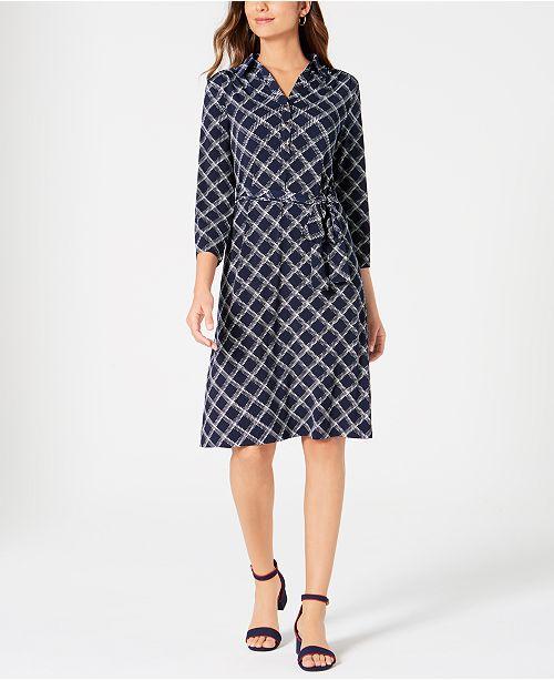 Charter Club Petite Plaid Polo Shirtdress, Created for Macy's