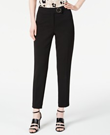 Calvin Klein Hardware-Detail Straight-Leg Pants