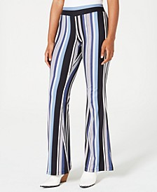 Juniors' Striped Knit Pants