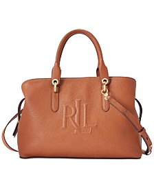Lauren Ralph Lauren Hayward Pebbled Leather Satchel