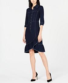 Ruffled Denim Dress, Created for Macy's