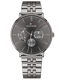 Tommy Hilfiger Men's Gray Stainless Steel Bracelet Watch 40mm, Created for Macy's