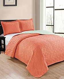 Park Avenue 3-Piece Reversible Quilt Set - Queen