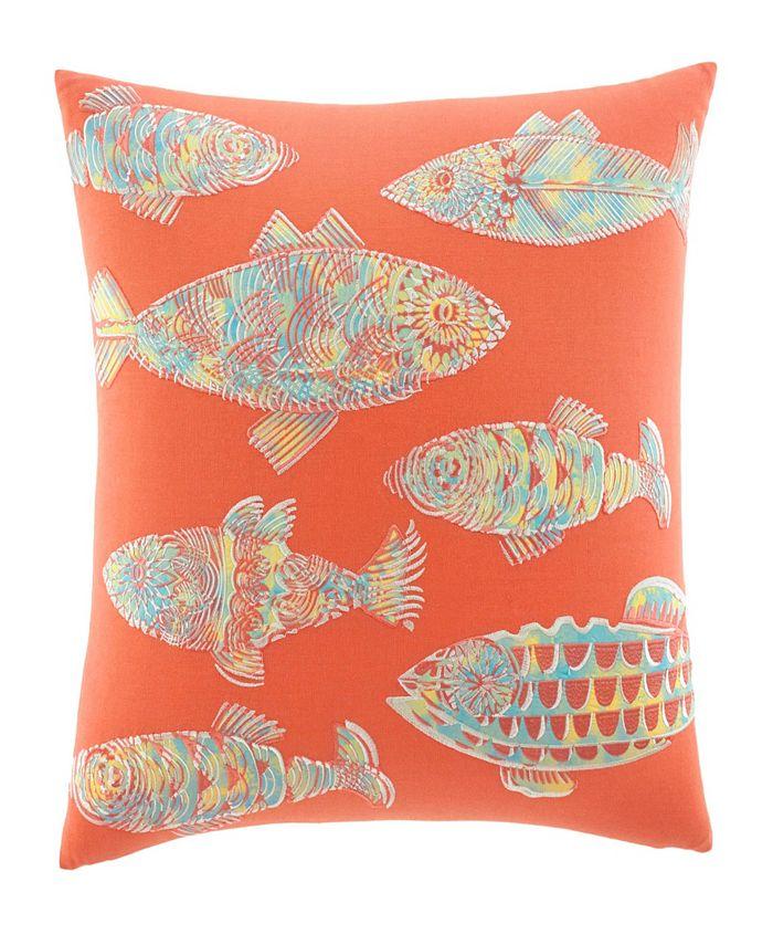 Tommy Bahama Home - Batic Fish Sunset Orange Throw Pillow