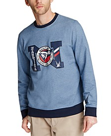 Men's Blue Sail Logo-Print French Terry Sweatshirt, Created for Macy's